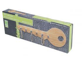 Bambusový vešiak na kľúče