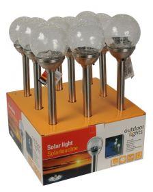 Solarna lampa Guľa - sklo