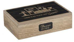Dekoračný box 7 sekcií - 24x16x7cm